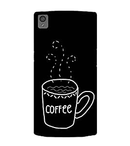 Coffee Clipart 2D Hard Polycarbonate Designer Back Case Cover for OnePlus X :: One Plus X :: One+X