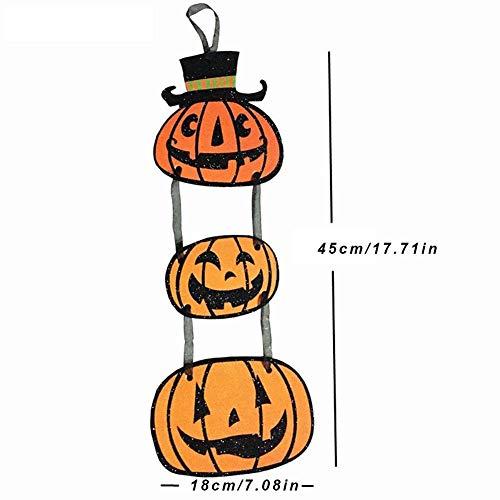 Cracklight Halloween dekorative Requisiten Halloween Anhänger Plaques Kürbis Geist Fledermäuse drei Papier Anhänger glücklich Halloween Tür hängen