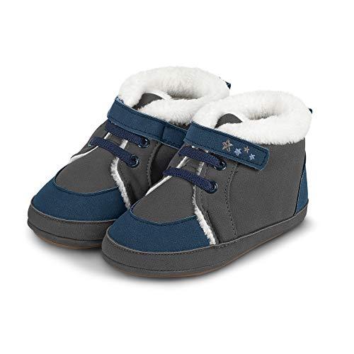Sterntaler Jungen Baby Schuhe mit Klettverschluss, Farbe: Eisengrau, Größe: 21/22, Alter: 18-24 Monate, Artikel-Nr.: 5301801