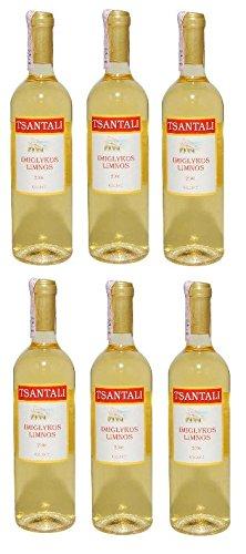 6er Spar Set Tsantali Imiglykos Limnos Weisswein - 6 x 750 ml griechischer Weiß Wein Weißwein
