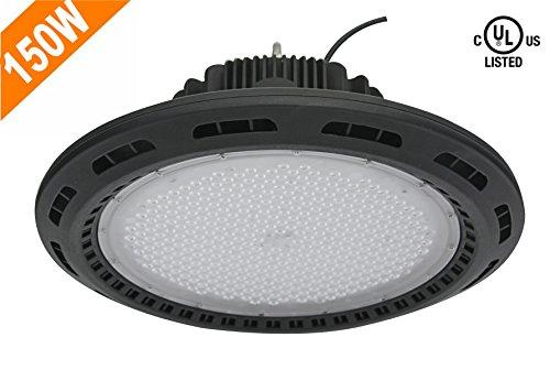 CY LED 150W ufo led lampadario industriale, illuminazione ad alta Bay, 300W HPS/MH Lampadina equivalenti, 18500Lm, impermeabile, luce diurna bianca, 6000K, 120° fascio, Super Luminoso Illuminazione Commerciale, LED High Bay luci