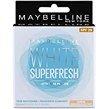 Maybelline New York White Super Fresh Compact, Coral, 8g