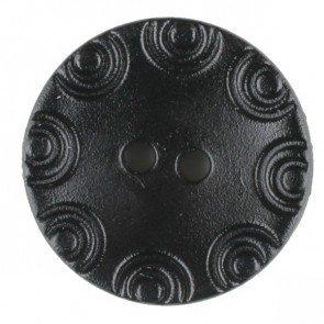 Dill® Bouton de Mode 13 mm Gravure Circulaire Noir à 2 Trous