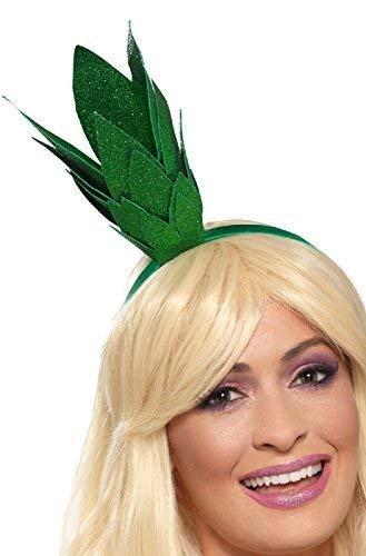 Kostüm Stirnband Ananas - Damen-Grün Glitzer Ananas Stiel Frucht Veg 5 einen Tag Schule Buch Tag Kostüm Verkleidung Outfit Accessoire Stirnband