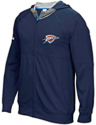 "Oklahoma City Thunder Adidas 2016 NBA On-Court ""Pre-Game"" Full Zip Hooded Jacket Veste"