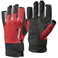 Musto Essential Sailing Short Finger Glove True Red-S