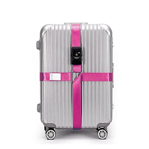 CSTOM (Rosa) Correa Extensible Apta TSA con Candado de 3 Diales para...