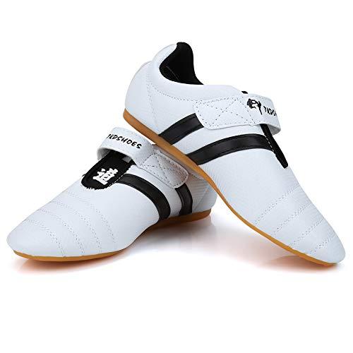 Fsskgx Zapatos de Taekwondo, Zapatillas de Artes Marciales, Boxeo, Zapatos Ligeros de Kung fu Taichi...