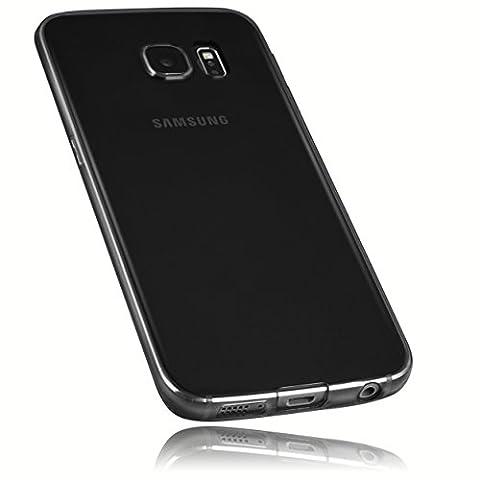 mumbi Schutzhülle für Samsung Galaxy S6 Edge Hülle transparent schwarz (Ultra Slim - 0.55 mm)
