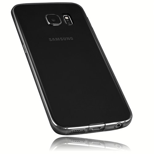 mumbi Schutzhülle Samsung Galaxy S6 Edge Hülle transparent schwarz (Ultra Slim - 0.55 mm)