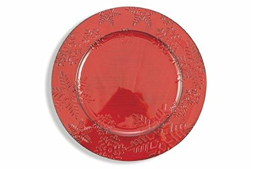 Galileo Casa Flocon de Neige Dessous de Plat, Rouge, 33 cm