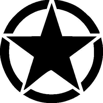 Preisvergleich Produktbild 1 x 2 Plott Aufkleber Army Star Special Edition Sticker Military Militär Stern
