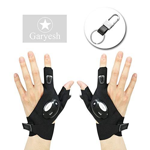 Garyesh 1 Par Guantes Medio Dedo Luz LED Actividades