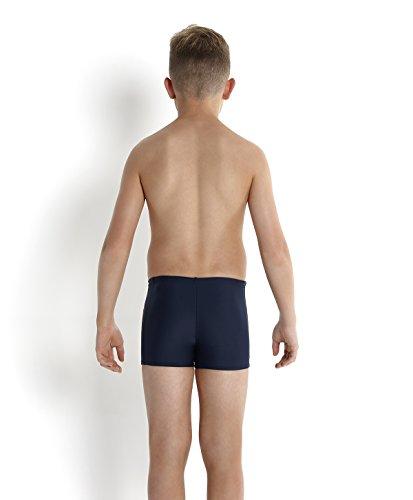 Speedo Jungen Badeanzug Logo Aquashorts mit Einsatz Speedo Navy/Deep Peri/Siren