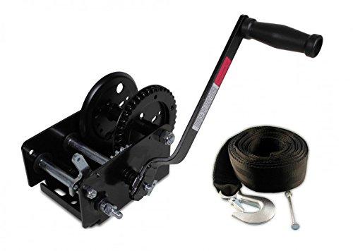Trailerwinde 900 kg + Trailerwindengurt 6,0 m - Trailer Gurt Boot