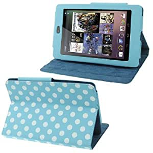 Dot Series Leather Case with Holder for Google Nexus 7 (2012 Version), Baby Blue