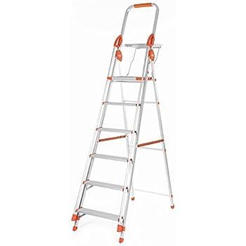 Bathla Zenith 6-Step Foldable Aluminium Ladder with Hand