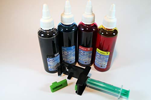 21 Kit de Recarga para Cartuchos de Tinta HP 21, 21 XL Negro y Color, Incluye Clip + 400 ML Tinta de Cartuchos HP Modelos Nº: 21-22-56-57-27-28-74-75-92-94-95-96-97-98-60-901, Negro y Color