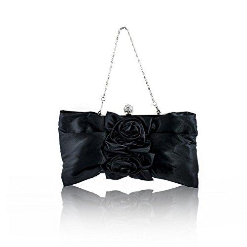 Zarla Pinzhi-frizione, con motivo floreale, da donna, per abiti da sera Sera UK Nero (nero)