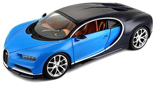 Bburago 15611040X - 1:18 Plus Bugatti Chiron Fahrzeug, farblich sortiert