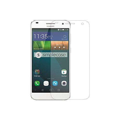 Simplecase Panzerglas passend zu Huawei Ascent G7 , Premium Bildschirmschutz , Schutz durch Extra Härtegrad 9H , Case Friendly , Echtglas / Verb&glas / Panzerglasfolie , Transparent - 1 Stück