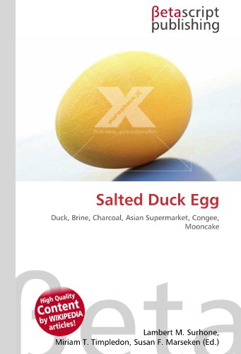 Salted Duck Egg: Duck, Brine, Charcoal, Asian Supermarket, Congee, Mooncake