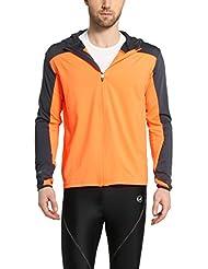 Ultrasport Buck - Chaqueta deportiva/de correr para hombre, manga larga, capa intermedia Buck, color naranja, talla L