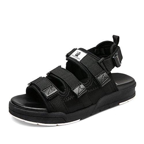 Xing Lin Sandales Pour Dames Sports DÉtudiants Chaussures De Plage Sandales Télévision Télévision Avec Velcro Chaussures Occasionnels 838 black