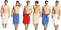 Il kilt da sauna di Betz è dotato di una tasca esterna e bottoni pratici. Il kilt di spugna è ideale per la sauna inoltre può essere usato come una superficie morbida per sedere o giacere. Il kilt da sauna maschile è disponibile nei seguenti ...