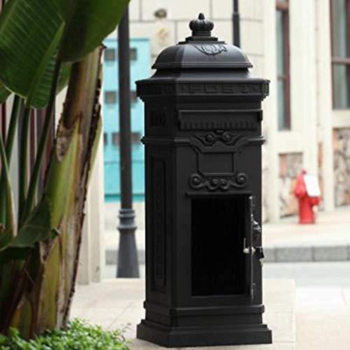 ZTMN Briefkästen mit Briefkastentür Retro European Villa Großraumbriefkasten/Design der Vorder- und Hintertür, vertikal (Farbe: A)