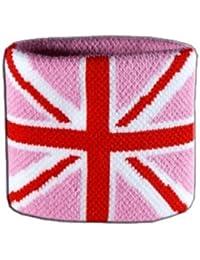 Digni® Poignet éponge avec drapeau Royaume-Uni Union Jack rose