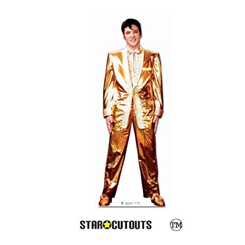 Star Cutouts Pappaufsteller von Elvis Lame Suit (Gold) (Karton Fancy)