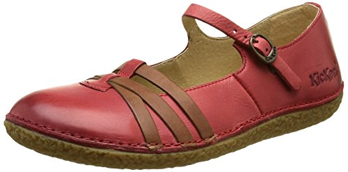 KickersHibou - Ballerine Donna , Rosso (Rouge (Rouge Camel)), 38