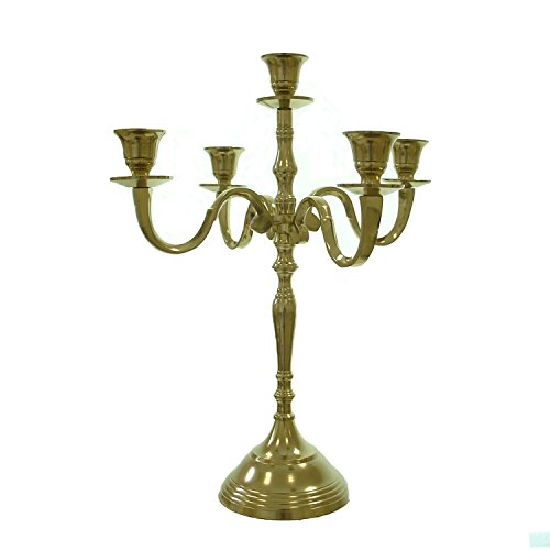 40cm KERZENLEUCHTER IN GOLD MODELL \'SOPHIE\' 5-FLAMMIG