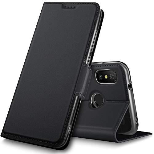 Geemai Xiaomi Mi A2 Lite Funda, Protectora PU Funda para Xiaomi Mi A2 Lite/Xiaomi Redmi 6 Pro.Negro