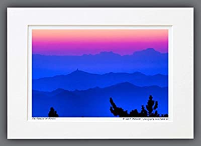110813-73 The Renewal of Aurora. A3 Matted Fine Art Photograph. Mountain Sunrise. Best for Home and Office Wall Art Room Decor.