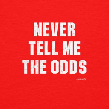 NERDO - Never Tell Me The Odds - Herren Kapuzenpullover Rot