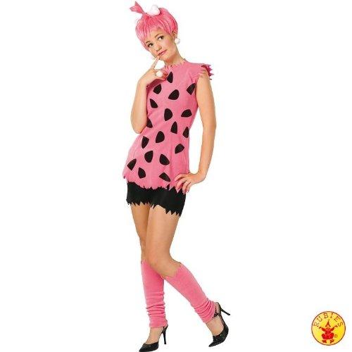 The Flinstones Die Feuersteins Pebbles Feuerstein pink pinkes Kostüm für Damen Mädchen Damenkostüm mit Perücke Gr. M, S, XS, - Mädchen Pebbles Feuerstein Kostüm