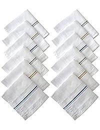 Caseous Men's Cotton Collection Handkerchief/Hanky