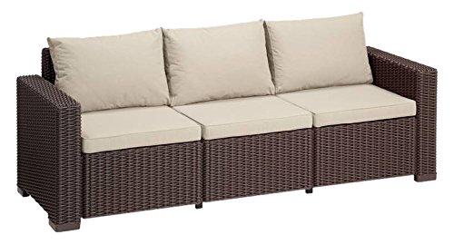 Allibert Lounge Sofa California 3-Sitzer, braun/panama taupe