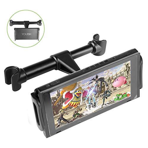 """Tablet Halterung Auto Kopfstütze, Younik einstellbarer Auto Tablet Halter für Nintendo Switch/iPhone/ iPad und andere Geräte (5\""""- 8.3\"""")"""