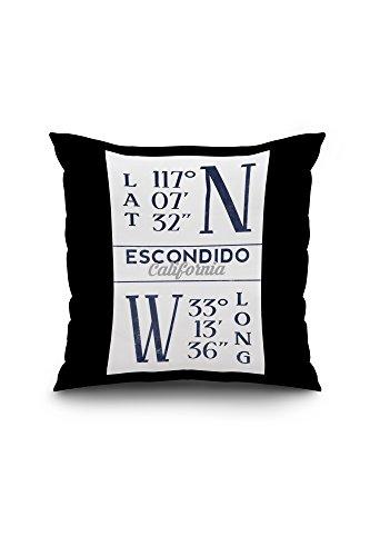 escondido-california-latitude-and-longitude-blue-18x18-spun-polyester-pillow-case-black-border