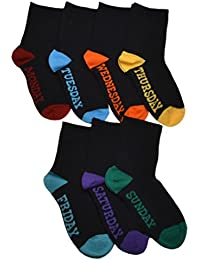 7 Pairs of Children's Days of the Week socks