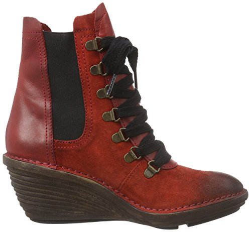 FLY London Suzu, Bottes Classiques femme Rouge (Red/red 004)