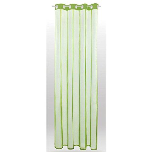 Transparenter Dekoschal b 140 x l 245 cm Ösenschal Voile, elegantes und stilvolles Wohnaccessoire in vielen verschiedenen Farben erhältlich (grün - olivgrün)