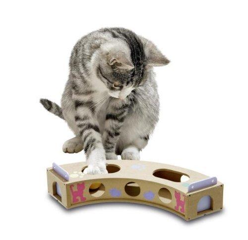 Karlie 47740 Smart Cat Curve Juguete para Inteligencia, 6 x 10 x 42 cm, Marrón