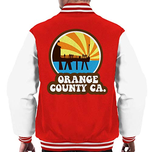 Orange County CA Retro Men's Varsity Jacket