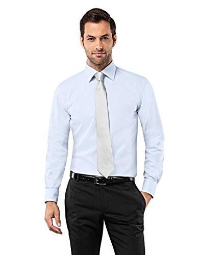 Vb-camicia da uomo regular fit no stiro Uni Light Blue 44 cm