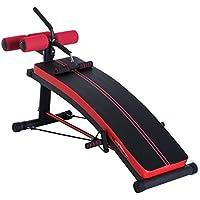 Homcom Banco de Musculación Banco Abdominal Pesas Estiramiento de Brazos Multifuncional para Fitness con 2 Cuerdas