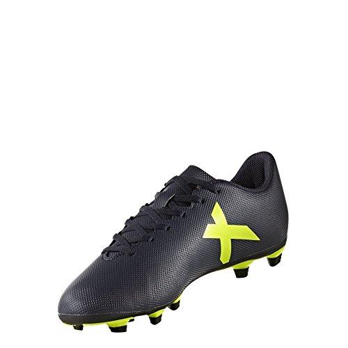 Adidas MEN'S X 17.4 FXG FOOTBALL SHOES (Navy, UK 6)